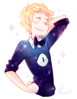 Bill + galaxy sweater by m-arci-a