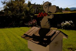 Snoopy Mail box. by FranklinTHEturtle
