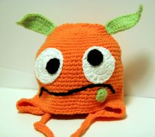 Baby monster hat by Knitnutbyjl
