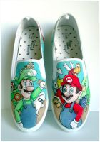 mario canvas shoes by tombirrellart