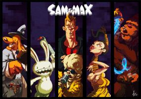 Sam and Max Hit the Road by Yaguete