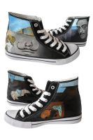 Hand painted sneakers: Salvador Dali theme by Annsko
