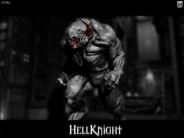 HellKnight - Doom 3 Wallpaper by Skullmonkey666