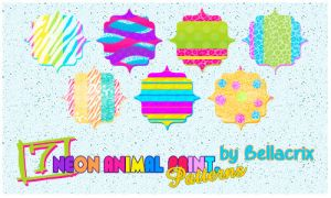 Neon Animal Print Patterns by Bellacrix