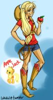 MLP: Human Apple Jack by thelifeofabinder