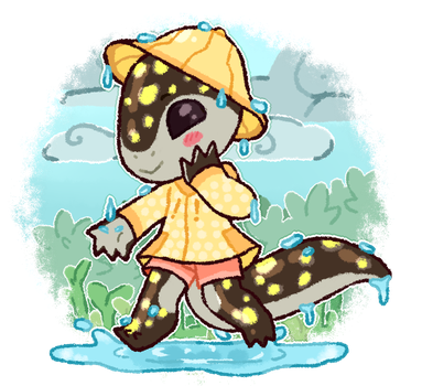 Com :: [Chibi] Rain Puddles by Norbiester