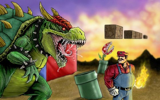 Realistic Bowser by colgate1