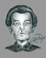 Inspirated Bill Murray portrait by gordonf98