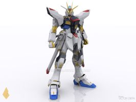 Gundam Strike Freedom3D by VicktorG
