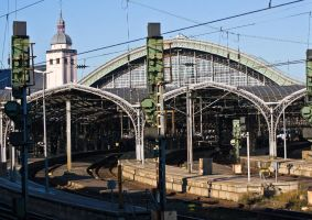 Railway station Cologne by GerryGollan