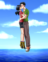 GohanxVidel: A kiss in the Sky by carapau