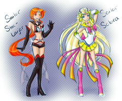 Sailor Star Laijer and Sailor Solara 2015 01 18 by theNekk