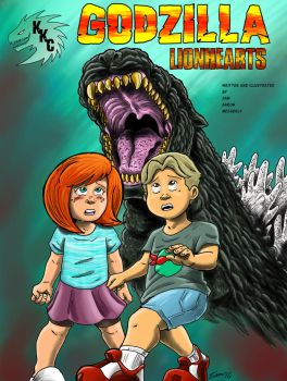 Godzilla Lionhearts Front Cover by kaijukid