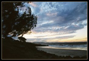 Belongil sunset 2 by wildplaces