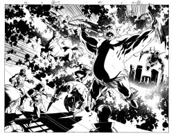 Nick Fury Double page by DerecDonovan