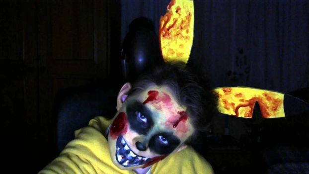 Halloween Pikachu Makeup by AstroLuxray