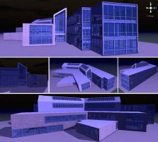 3D Building Exterior by hollywood714