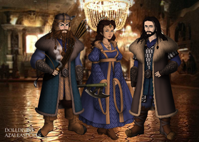 Dwarf Scene Maker  Frerin  Dis  And Thorin By  by bibka9970