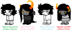 .: My Homestuck Crew (No-Color/Sprite Version) :. by SoftyHeart001