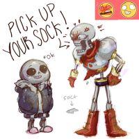 Skelebros from tumblr by renmargo