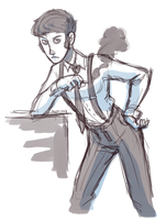 sassy butch crossdressing 20s women by VCR-WOLFE