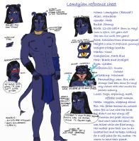 Lemayian the Kessian reference sheet by IllyDragonfly