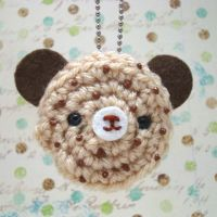 Chocolate Chip Cookie Bear by amigurumikingdom