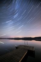 Star Trail Reflection by MikkoLagerstedt