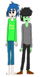 2D and Murdoc by Vocalist2D