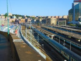 Overview of the station of Genoa-Brignole 2 by GladiatorRomanus