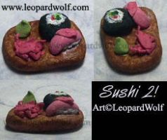 Sushi tray 2 sculpt by leopardwolf