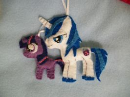 BBBFF Shining Armor Twilight Sparkle Ornaments by grandmoonma