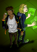 Motorcity Mike and Chuckles Colored by Kerushi-sama