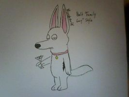 Bolt 'Family Guy' Style by XfangheartX