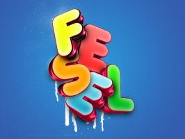 Fesel typography by fesell