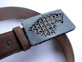 House Stark Belt Buckle by kenshin1387