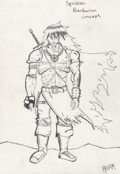 Syridian Barbarian Concept by NSyridian