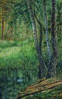 On the forest pond by Wojciech-Wierzynski