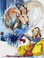 Lii and the Fawn Teabeast by Morag-I