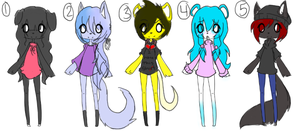 Free Adoptables 10 *CLOSED* by ookami8118