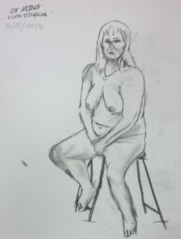 Life drawing: Charcoal - 25 minutes by YONDER000
