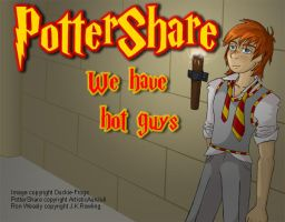 PotterShare Ad - Sexy Ron by Duckie-Frogs