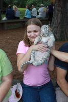 Me with white tiger cub by LishaColors
