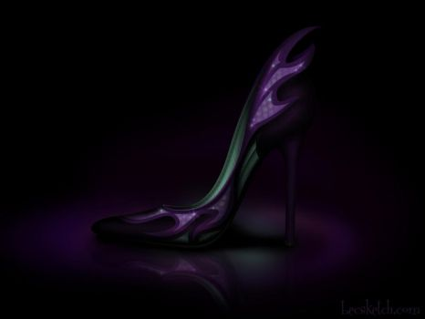 Maleficent Inspired Shoe - Disney Sole by becsketch