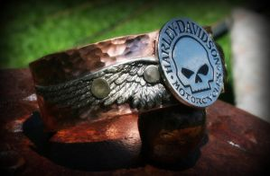 Harley Davidson Copper Cuff by ReneeRutherford