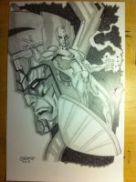 Silver Surfer and Galactus by JCSMultimedia
