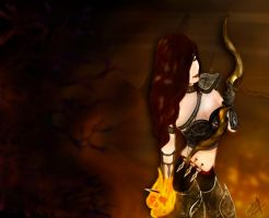 Lady Demon Hunter by Zelgadysgraphic