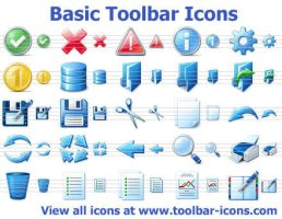 Einfache Toolbar Icons by Ikonod