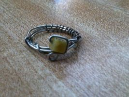 ooak square stone ring by Wintaria