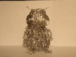 Wire Constructed Owl- Front by Vanghira